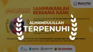 SAMPAIKANLAH BERSAMA KAMI, Terpenuhi, baitul mal nur ramadhan