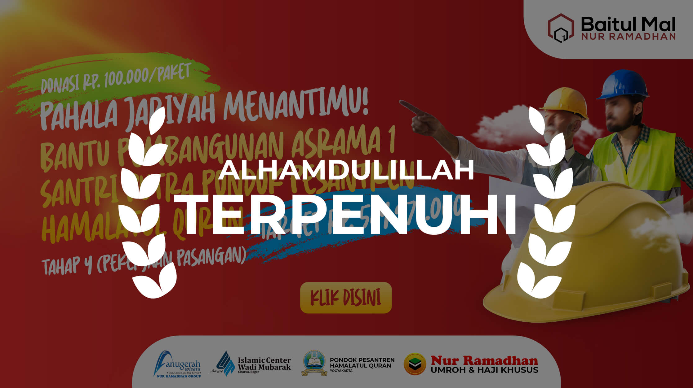 PEMBANGUNAN ASRAMA SANTRI TAHAP 4, Baitul Mal Nur Ramadhan
